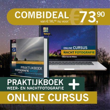 Combideal: praktijkboek Weer- & nachtfotografie en online cursus nachtfotografie